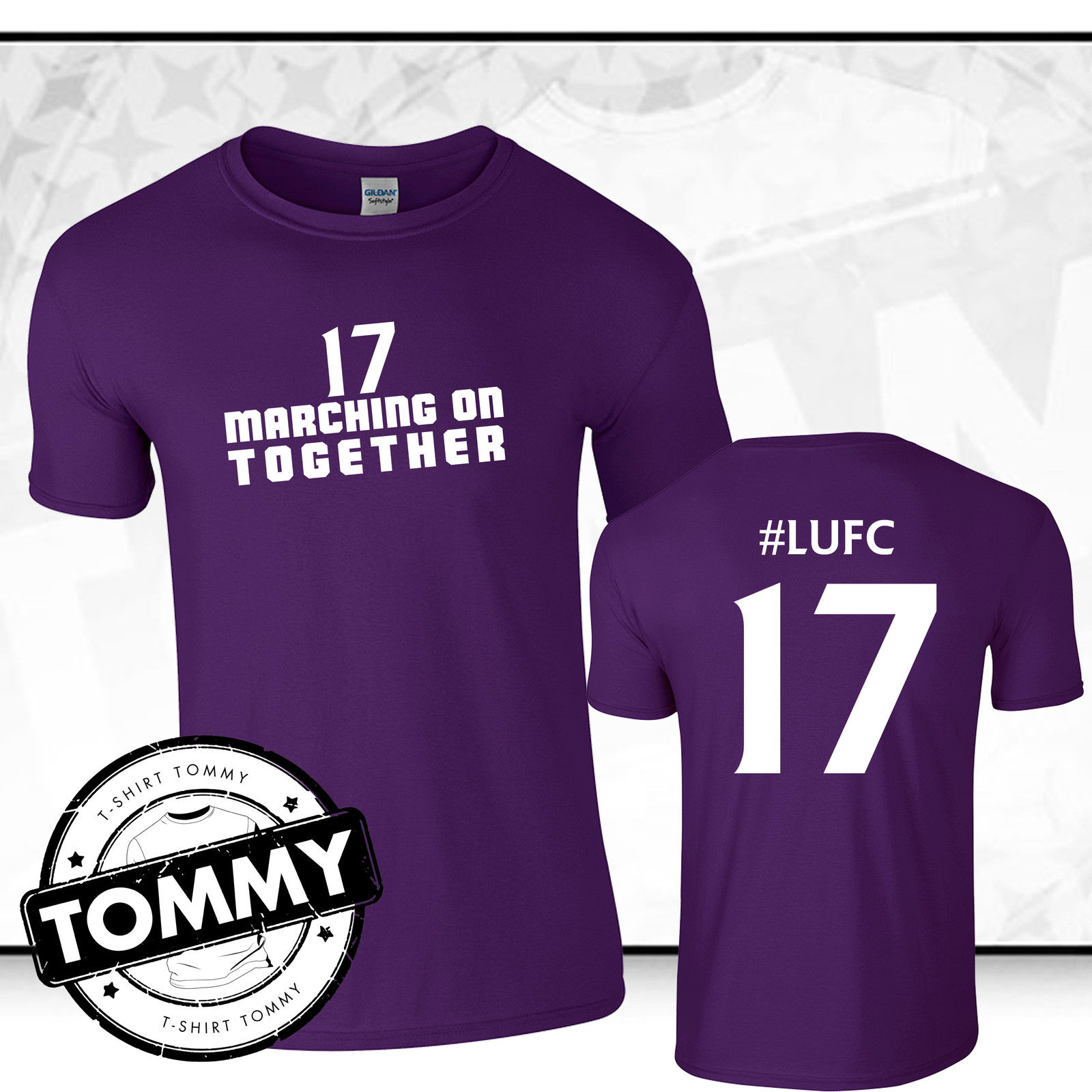Leeds united t shirt purple protest number 17 t shirt for Printed t shirts leeds