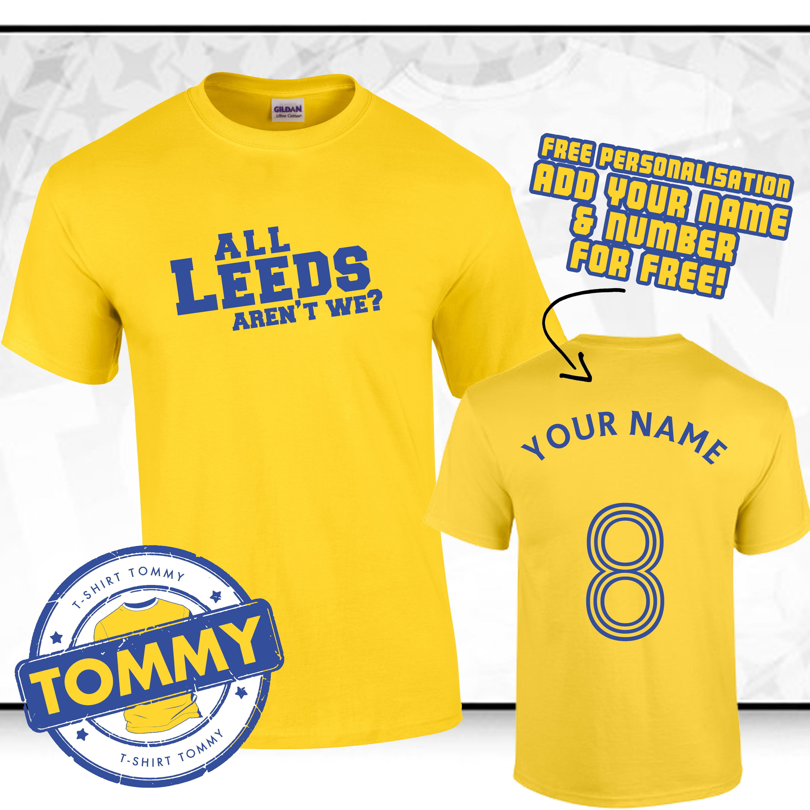 Leeds utd t shirt all leeds aren 39 t we t shirt leeds for Printed t shirts leeds